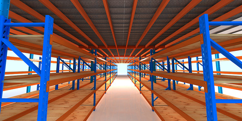 Mezzanine floor racking-E