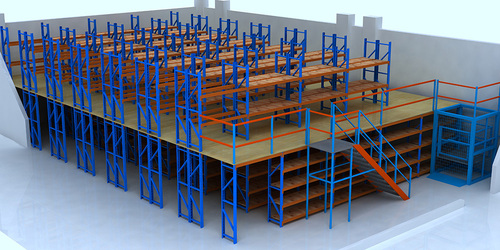 Mezzanine floor racking-D